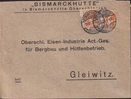 POLAND 1920 Upper Silesia Cover Bismarckhutte - Settori Di Coordinazione