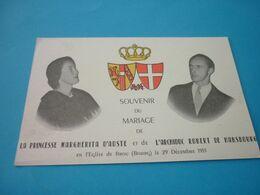 Carte Postale Souvenir Du Mariage De La Princesse D'Aoste Et De L'Archiduc Robert De Habsbourg Eglise De Brou Bourg - Königshäuser