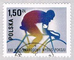Poland 2214 Used Bicyclist 1977 (BP41405) - Non Classés