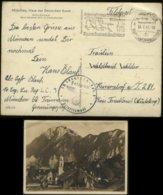 S0283 DR HDK 398 ,Postkarte, Bild ,Beim Messner Wirt In Kiefersfelden: Gebraucht Mit Werbestempel Pferderennen ,Braune - Duitsland
