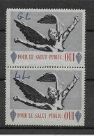 France Vignette - Libération De Gaulle - Paire - B/TB - Liberación