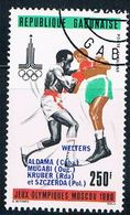 Gabon C240 Used Olympic Boxing Ur 1980 (G0279)+ - Gabon