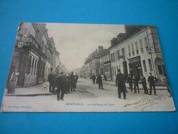 Carte Postale Loiret Montargis Faubourg De Lyon Animée - Montargis