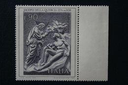 """ITALIE,1974 Y&T NO 1209 90L""""La Création D'Adam""""Jacopo Della Quercia Bord De Feuille NEUF MNH ** - 1971-80: Ungebraucht"""