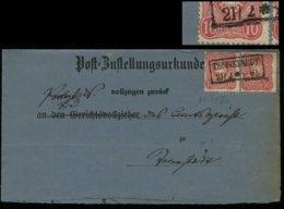S5664 DR Nr. 41 PF Va Drei Kratzer Unter ENN Auf ZU :gebraucht Preussen NV Tennstaedt 1883 , Bedarfserhaltung ,130 Eur - Germany