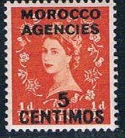 Morocco Agencies 105 MLH Surcharged 1954 (M0298)+ - Postämter In Marokko/Tanger (...-1958)