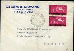MS21 VILLA ROSA ( TERAMO ) , LETTERA INTESTATA  DE SANTIS GIOVANNI , IMPRESA EDILE - Italy