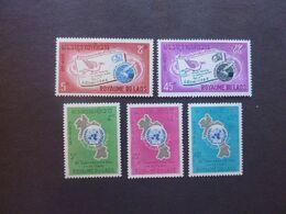 ROYAUME Du LAOS, Années 1965 Et 1966, YT N° 120-121-122 + 142 Et 145 Neufs MH* - Laos