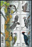 2001 Finland Woodpeckers Minisheet (** / MNH / UMM) - Passereaux