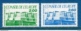 France - Timbre De Service - YT N° 96 Et 97 - Conseil De L'Europe - Neuf Sans Charnière - 1987 - Neufs