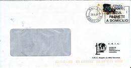 Spain Cover With ATM FRAMA Label Barcelona 27-11-2001 - 1931-Aujourd'hui: II. République - ....Juan Carlos I