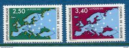 France - Timbre De Service - YT N° 106 Et 107 - Conseil De L'Europe - Neuf Sans Charnière - 1991 - Neufs