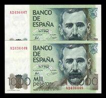 España Pareja 1000 Pesetas Pérez Galdos 1979 Pick 158 Serie A SC- AUNC - [ 4] 1975-… : Juan Carlos I