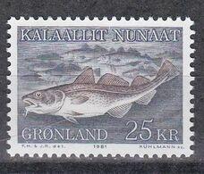 Grönland 1981 - Mi.Nr. 129 - Postfrisch MNH - Tiere Animals Fische Fishes - Fische
