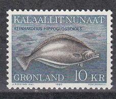 Grönland 1985 - Mi.Nr. 162 - Postfrisch MNH - Tiere Animals Fische Fishes - Fische