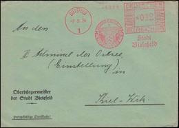 AFS Stadt Bielefeld - Besucht Bielefeld Im Teutoburger Wald 7.9.34 Auf Brief - Deutschland