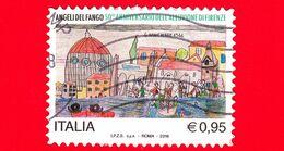 ITALIA - Usato - 2016 - Angeli Del Fango, Nel 50° Anniversario Dell'alluvione Di Firenze - Disegno - 0,95 - 2011-...: Oblitérés