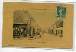 45 DOUCHY Carte Rare Beau Tirage Glacé Couleur  Rue De Bourgogne Commerce VINCENT Librairie  Edit Vincent  D15 2020 - Andere Gemeenten
