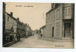 45 DOUCHY La Grande Rue Animation Publicités Mur Menier  Guerin Boutron   - écrite Du Village   D15 2020 - Frankreich