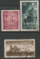 Spain 1953 Sc 795-97 Ed 1126-8 Set Used - 1931-50 Gebraucht