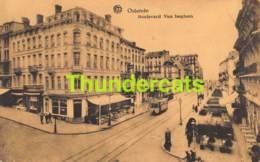 CPA OOSTENDE OSTENDE BOULEVARD VAN ISEGHEM HOTEL ALBERTA TRAM - Oostende