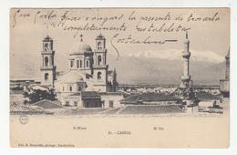 Candia Crete, St Minas & Mt Ida Old Postcard Travelled 190? Heraklion Pmk B200907 - Greece