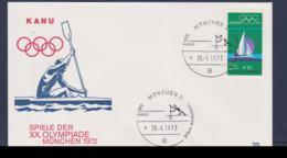 Germany Cover 1972 München Olympic Games - München Kanu (G67-47B) - Summer 1972: Munich