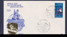 Germany Cover 1972 München Olympic Games - Augsburg Kanu (G67-47B) - Summer 1972: Munich
