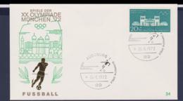 Germany Cover 1972 München Olympic Games - Augsburg Fussball (G67-47B) - Summer 1972: Munich