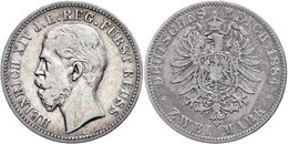 2 Mark, 1884, Heinrich XIV., Kl. Rf., S-ss., Katalog: J. 120 S-ss - [ 2] 1871-1918: Deutsches Kaiserreich