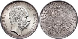 2 Mark, 1902, Albert Auf Seinen Tod, Avers Vz-st, Revers St., Katalog: J. 127 - [ 2] 1871-1918: Deutsches Kaiserreich