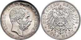 5 Mark, 1902, Albert, Auf Seinen Tod, Vz-st., Katalog: J. 128 Vz-st - [ 2] 1871-1918: Deutsches Kaiserreich