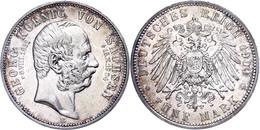 5 Mark, 1904, Georg Auf Seinen Tod, Ss., Katalog: J. 133 Ss - [ 2] 1871-1918: Deutsches Kaiserreich