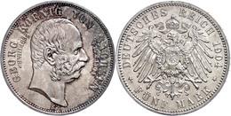 5 Mark, 1904, Georg, Auf Seinen Tod, F. St., Katalog: J. 133 - [ 2] 1871-1918: Deutsches Kaiserreich