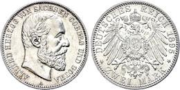 2 Mark, 1895, Alfred, Vz., Katalog: J. 145 Vz - [ 2] 1871-1918: Deutsches Kaiserreich