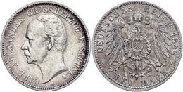 2 Mark, 1898, Carl Alexander, Randfehler, Ss., Katalog: J. 156 Ss - [ 2] 1871-1918: Deutsches Kaiserreich