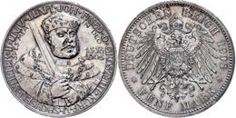 5 Mark, 1908, Wilhelm Ernst, Kurfürst Johann Friedrich Zur 350-Jahrfeier Der Universität Jena, Kleine Randfehler, Vz, Ka - [ 2] 1871-1918: Deutsches Kaiserreich