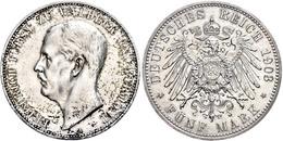 5 Mark, 1903, Friedrich, Wz. Rf., Avers Leicht Berieben, Vz, Katalog: J. 171 Vz - [ 2] 1871-1918: Deutsches Kaiserreich