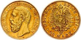 10 Mark, 1876, Friedrich I., Ss., Katalog: J. 186 Ss - [ 2] 1871-1918: Deutsches Kaiserreich