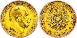 10 Mark, 1874, A, Wilhelm I., Ss, Katalog: J. 245 Ss - [ 2] 1871-1918: Deutsches Kaiserreich