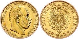 10 Mark, 1878, Wilhelm I., Mzz A, Ss., Katalog: J. 245 Ss - [ 2] 1871-1918: Deutsches Kaiserreich