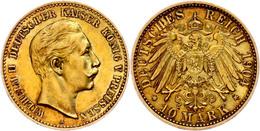 10 Mark, 1904, Wilhelm II., Ss., Katalog: J. 251 Ss - [ 2] 1871-1918: Deutsches Kaiserreich