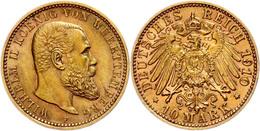 10 Mark, 1910, Wilhelm II., Kleine Randfehler, Ss-vz., Katalog: J. 295 Ss-vz - [ 2] 1871-1918: Deutsches Kaiserreich