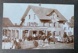 Restaurant Mit Wein Und Bier/ Belebt/ Leute Pferdewagen/ Aufnahme Ca. 1921/ Ort In Der Schweiz - Altri