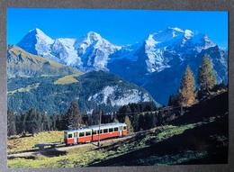 Mürren Bahn Lauterbrunnen-Grütschalp-Mürren/ Moderne Karte - BE Berne