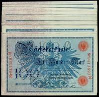 Deutsches Kaiserreich - Deutsche Reichsbank 1876-1918, Lot Von 34 X 100 Mark 7.02.1908, Rosenberg 33/ PIck 33b. Erhaltun - Banknotes