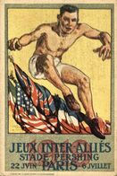 JEUX INTER ALLIES STADE PERSHING.  PARIS - Guerra 1914-18