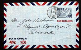 JAPAN  Aerogramme To Denmark    ( Lot 3980) - Interi Postali
