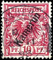 PAQUEBOT LIVERPOOL OC 11 98, Zentrisch Auf Kamerun 10 Pfg Krone/Adler, Tadellos, Kabinett, Seltener Stempel, Gepr. Pauli - Colonie: Cameroun