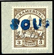SOUF(FLAY) Großer Gummistempel 28. 1 13 (handschriftlich) Guter Teilabschlag Auf Schönem Briefstück Mit 3 Pfennig Kaiser - Colonie: Cameroun